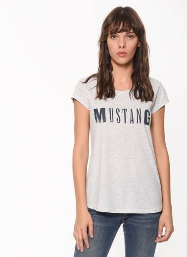 Mustang Tişört Gri